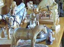 Several carvings by the Valley Carver