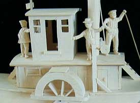 Carving of a riverboat